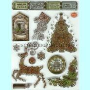 Viva Decor Clear Stempel - Steampunk Christmas Tree