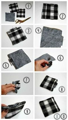 Easy DIY Fabric Coasters are fun and easy sewing project that makes a lovely handmade gift. Raid your scrap fabric bag and find the perfect flannel fabric. Fabric Coasters, Diy Coasters, Quilted Coasters, Crafts For Teens To Make, Adult Crafts, Easy Sewing Projects, Craft Projects, Dollar Store Crafts, Fall Diy