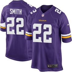 Nike Elite Harrison Smith Purple Youth Jersey - Minnesota Vikings #22 NFL Home