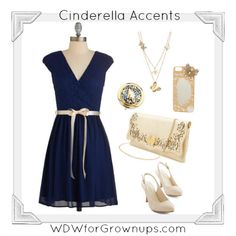 Ivory and Gold Accents Celebrate Cinderella
