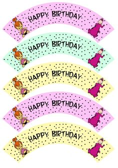 Pebbles and Dino Birthday Party Printables Set: Cupcake Wrappers