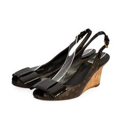 Wedges that are high on style are worthy of being a part of one's closet, grab them right away! Louis Vuitton Monogram, Designer Shoes, Dust Bag, High Heels, Take That, Wedges, How To Wear, Closet, Bags