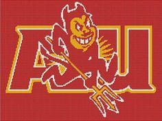 arizona state university cross stitch | ASU Sun Devils Crochet Afghan Pattern - Arizona State University