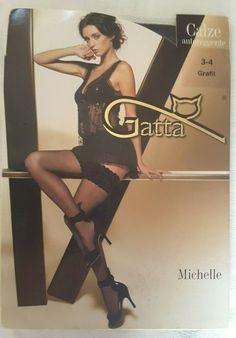 45e9b6d41730df Gatta Calze Brigitte Hold Up Black Stockings Size M/L Burlesque Sexy #Gatta  #HoldUps #Glamour