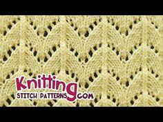 Horseshoe lace stitch | Lace Knitting #28