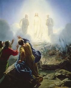 Transfiguration of Jesus by Carl Bloch. Academicism. religious painting