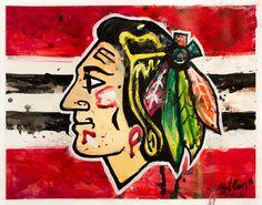 Blackhawks painting by Blake Brady