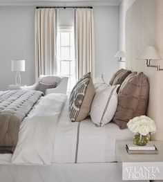 Brown & cream bedding