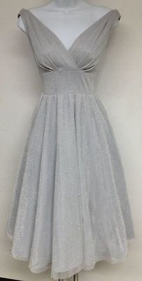 STOP STARING Silver Pin Up DREAM Cheesecake Holiday Swing Dress USA Made XS-3X