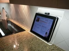 Want to keep your iPad off the counter, out of harm's way, but still accessible for recipe/cooking apps? This easy-to-install mount goes under your cabinets. Read this article by Rick Broida on CNET. via @CNET
