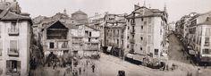 Puerta del Sol durante el inicio de los derribos previos a la reforma, 1857 Museo Municipal de Madrid.