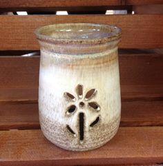 Handmade Pottery Tea Light Oil Wax Melt Scent Burner by PotteryMerchant on Etsy