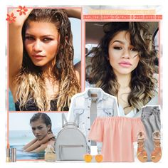 """""""Zendaya"""" by trulyscintilla ❤ liked on Polyvore featuring Coleman, Lands' End, Rebecca Taylor, Fendi, Urban Decay, Marc by Marc Jacobs and Kate Spade"""