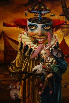 ☆ Clown Town -Detail- By Artist Leslie Ditto ☆