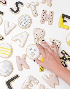 letter cookies, the Alison Show