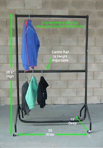 MUY RESISTENTE DOBLE COLGANTE PERCHERO 1,5 m LARGO X 1,8 m 15.2cm ALTO | eBay
