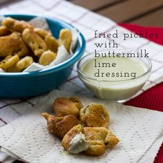 Fried Pickles with Buttermilk-Lime Dressing