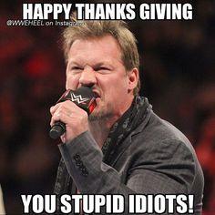 Heel turn! Lmao.. #wwe #y2j @chrisjerichofozzy #happythanksgiving #thanksgiving #tg #htg #dinner #chrisjericho #festive #funny #lmao #lol #rawisjericho #wrestling #wwememes #wrestlingmemes #comedy #wweuniverse