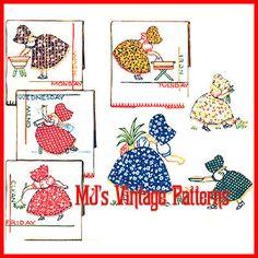 Vintage Sunbonnet Sue Dow Applique Pattern
