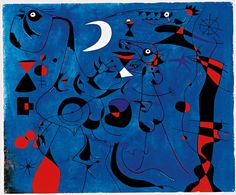 Joan Miró - Figure at Night guided by the Phosphorescent Tracks of Snails (1940)
