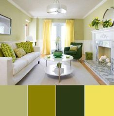 25 Gorgeous Living Room Color Schemes to Make Your Room Cozy Unbelievable living room color ideas with accent wall // living room color schemes olive green couch Accent Walls In Living Room, Living Room Color Schemes, Living Room Green, Paint Colors For Living Room, Living Room Interior, Home Interior, Living Room Designs, Living Room Decor, Interior Design