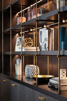 Bespoke Furniture and the Finest Joinery made in Britain by Middleton Bespoke Joinery Office Interior Design, Office Interiors, Luxury Interior, Room Interior, Shelf Design, Küchen Design, Cabinet Design, House Design, Bar Sala
