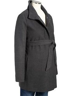 Maternity Belted Hip-Length Jackets