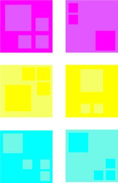 Bij dit schilderij is gebruik gemaakt van een kwaliteitscontrast in het midden is de kleur geel - Grijze kleur donkerder ...