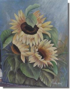 Sunflowers - Ruďa -  júl 2016 Pictures To Paint, Sunflowers, Painting, Art, Art Background, Painting Art, Kunst, Paintings, Performing Arts