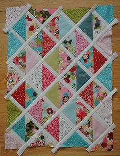 Charm quilt.--wonder how this would look in black and white with color pops at random...