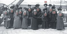 Finding the names of the Titanic stewardesses photographed at Plymouth after their rescue in 1912.
