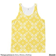 Vintage patterns All-Over print tank top #Vintage #patterns All-Over #print #tank #top