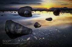 Rocky beach at sunset by akcharly. Please Like http://fb.me/go4photos and Follow @go4fotos Thank You. :-)