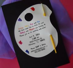 Art party invitations using paint chips So cute Holidays