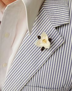 Trillium Flower Lapel Pins Men Women Lapel Pin White Lapel | Etsy