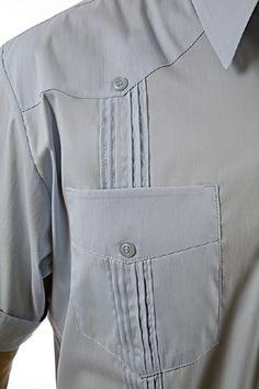 6b2a5b453 Guayabera Manny shirt in pima cotton   Short Sleeve Guayabera Shirt    Guayabera details   Shirt