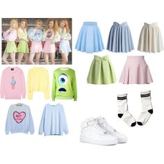 """Red Velvet """"Ice Cream Cake"""" Inspired Outfit by shinee-panda on Polyvore featuring polyvore fashion style H&M Markus Lupfer Acne Studios Abercrombie & Fitch Just Cavalli Chicwish NIKE"""