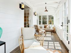 35 Charming Small Sunroom Decorating Ideas You Must Try Small Sunroom, Sunroom Windows, Sunroom Furniture, Outdoor Furniture Sets, Sunroom Decorating, Decorating Ideas, Stone Veneer Fireplace, Screened Porch Designs