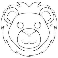 Free printable coloring pages Lion Mask Coloring Page Lion Coloring Pages, Free Printable Coloring Pages, Coloring Pages For Kids, Coloring Books, Zoo Crafts, Crafts For Kids, Animal Crafts, Printable Animal Masks, Daniel And The Lions