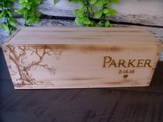 Rustic Wedding Wine Box Design Your Own Lid by willowroaddesigns, $48.00