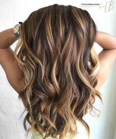 Long+Brown+Hair+With+Caramel+Highlights