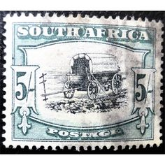 South Africa, Wagon, 5 Shilling, dark-green blue black 1947 used