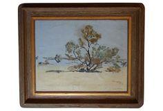 Desert Scene w/ Mesquite by Agnes Pelton on OneKingsLane.com