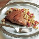 Try the Honey-Glazed Salmon with Roasted Corn Salsa Recipe on williams-sonoma.com/
