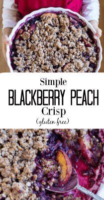 Simple Blackberry Peach Crisp (gluten free) - www.savorylotus.com