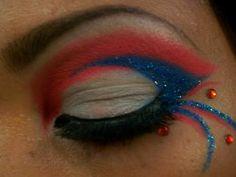 Red, White and Blue Patriotic Eye Makeup  http://makinbacon.hubpages.com/hub/redeyesmascaralinereyeshadowtutorials