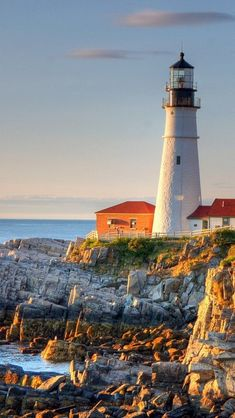 ~ MAINE ~Portland Head Lighthouse, @ Fort Williams Cape Elizabeth, Maine, USA