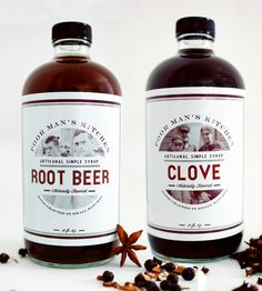 Clove Syrup & Root Beer Syrup Set by Poor Man's Kitchen on Scoutmob Shoppe. An Old Fashioned with Clove Syrup? A spiked root beer float? Don't mind if we do.
