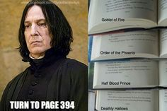 Turn to page 394 of Goblet of Fire, Order of the Phoenix, Half-Blood Prince, and Deathly Hallows.