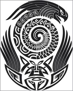Tribal tattoo pattern Fit for a shoulder Vector illustration Illustration - 123rf